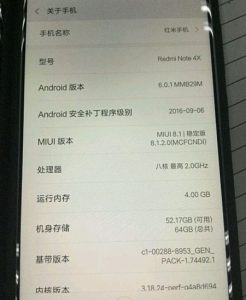 redminote4xspecifications
