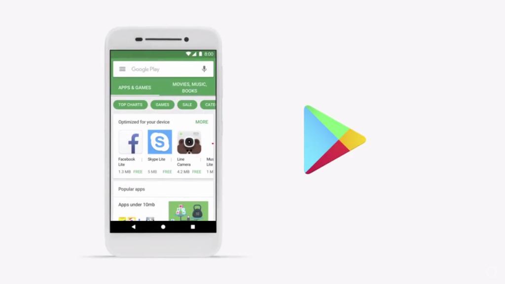 Le nouveau playstore d'Android GO
