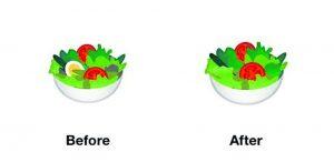 Emoji salade