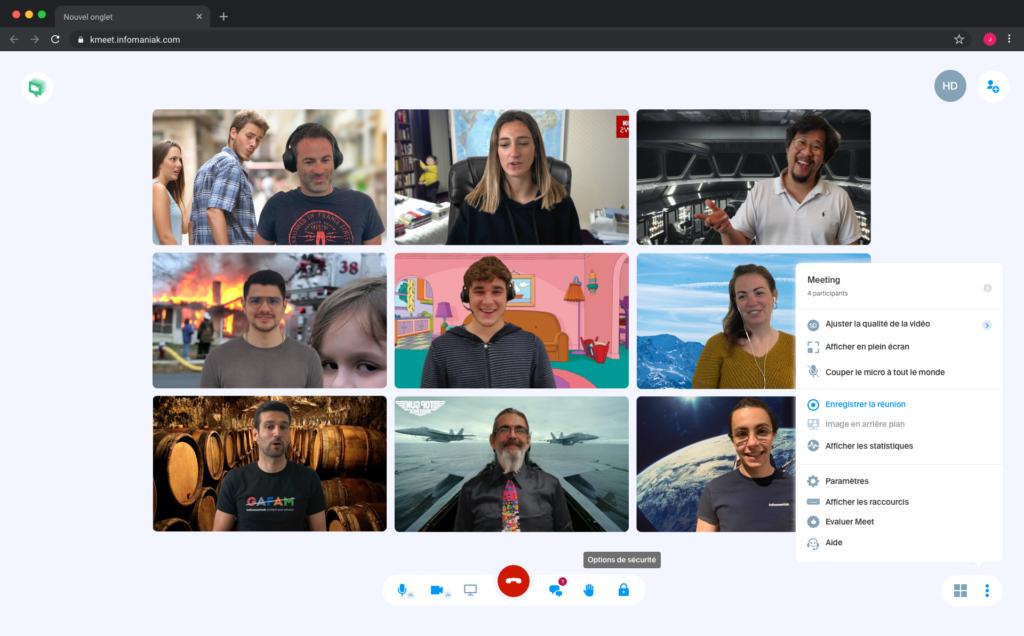 Infomaniak déploie de nouveaux outils sur kMeet